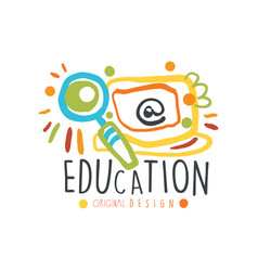 abstract education day label design concept vector image vector image