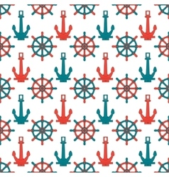 Abstract seamless background pattern with anchors vector