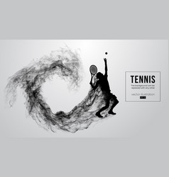 abstract silhouette a tennis player man male vector image