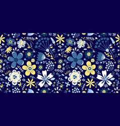 Amazing floral pattern with flowers bright vector