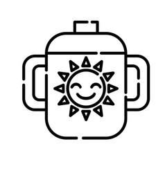 baby glass icon design clip art line icon vector image