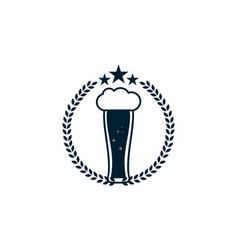 beer alcohol logo vector image