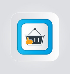Best shopping icon with a thumb up concept vector