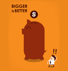 Big piggy bank vector