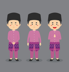 Brunei character with various expression vector