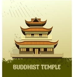 Buddhist Temple old vector image