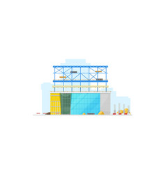 building construction site isolated warehouse icon vector image