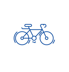 Bycicle line icon concept bycicle flat vector