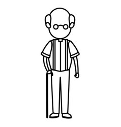 Cartoon man male parent family adult member vector