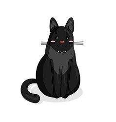 character of maine coon cat in kawaii style vector image