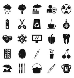Children health icons set simple style vector