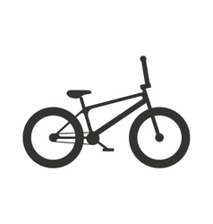 Classic sport bike silhouette vector image