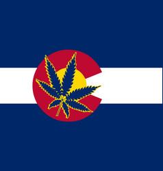 Colorado state cannabis flag vector