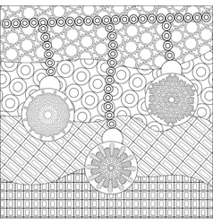 Coloring book page for adult anti stress coloring vector