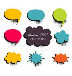 comic colored text speech bubble 9 vector image