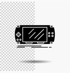 console device game gaming psp glyph icon on vector image
