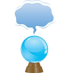 Crystal ball icons vector