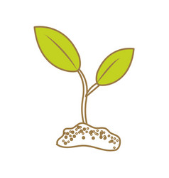 Cute ecology plant with earth vector