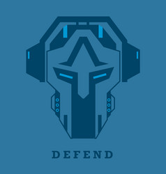 Cyber robot sparta gaming and t-shirt logo vector