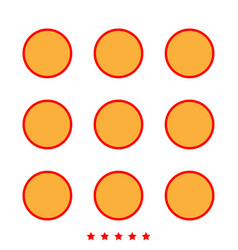 dial button icon different color vector image
