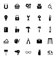 DIY icons on white background vector image