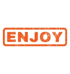 Enjoy rubber stamp vector