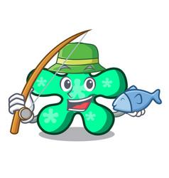 fishing free form mascot cartoon vector image