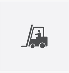 forklift in operation icon vector image