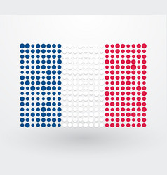french flag made up of dots vector image