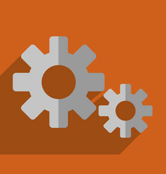 gears wheels icon vector image