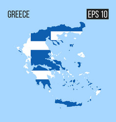 Greece map border with flag eps10 vector