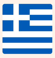 greece square flag button social media vector image