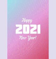 happy new year 2021 wavy text background vector image