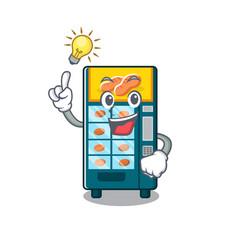 Have an idea bakery vending machine in cartoon vector