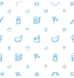 hobby icons pattern seamless white background vector image