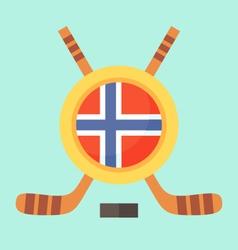 Hockey in Norway vector image