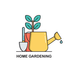 home gardening concept icon isolated on white vector image