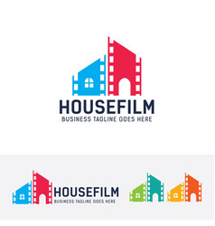 house film logo design vector image