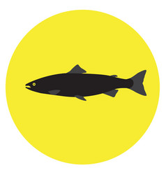 Isolated silhouette of a fish vector