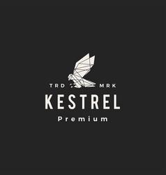 kestrel geometric polygonal hipster vintage logo vector image