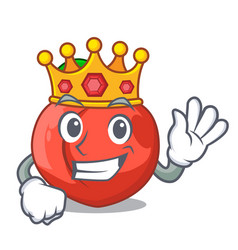 King fruit of nectarine isolated on mascot vector
