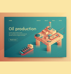 lettering oil production vector image