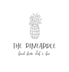 line logo of pineapple vector image