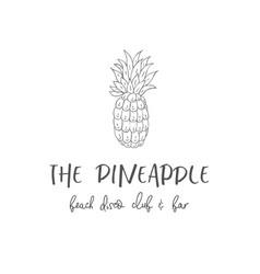 Line logo of pineapple vector
