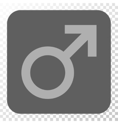 Male Symbol Rounded Square Button vector