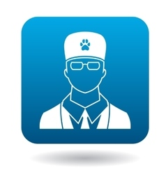 Male veterinarian doctor icon simple style vector