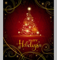 modern christmas greeting card vector image
