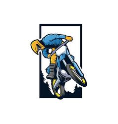 motocross vector image