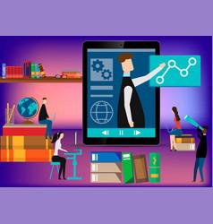 Online learning e-learning webinar presentation vector