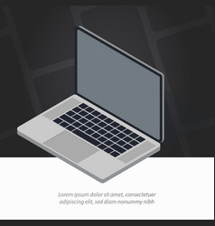 opened isometric laptop vector image